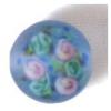 Glass Lamp Bead 10mm Round Light Sapphire Matt